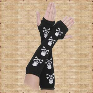 White Skull Arm Warmers
