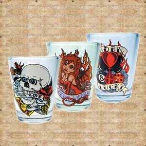 Tattoo Shot Glasses