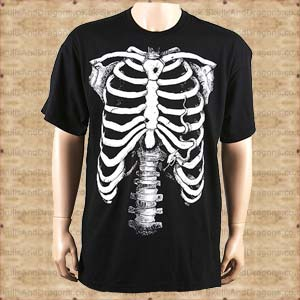 White Skeleton T shirt
